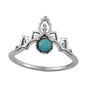 Casablanca Turquoise Ring Silver - Size 5