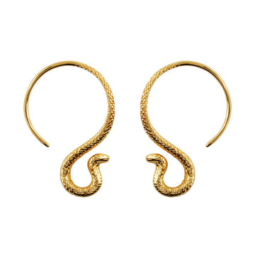 Cobra Hoop Earrings - Gold