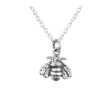 Silver chain with bee charm