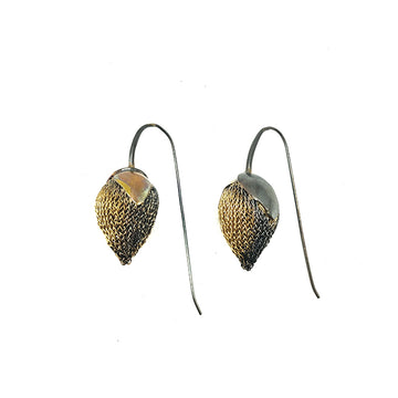 Milena Zu Strawberry Pod Earrings - Gold and Grey