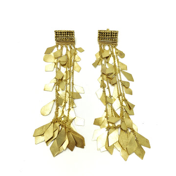 Milena Zu Chain Drop Studs - Gold