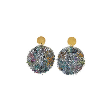 Milena Zu Rainbow Swarovski Disc Earrings