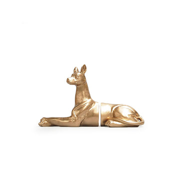 Dog Bookends - Gold
