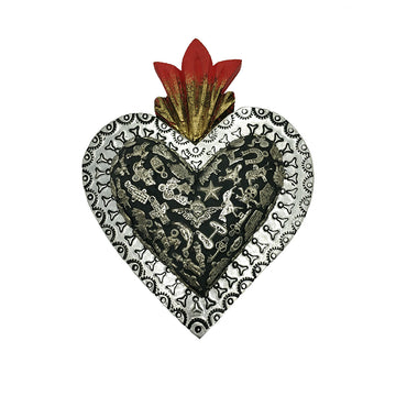 Large Metal Milagros Heart
