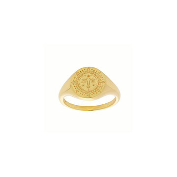 Sun Signet Ring - Gold