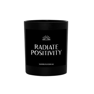 Quote Candle 'Radiate Positivity' Large