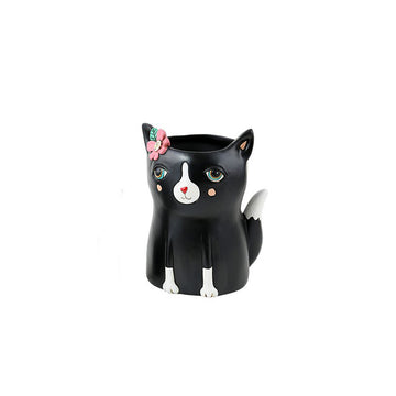 Black Kitty Planter
