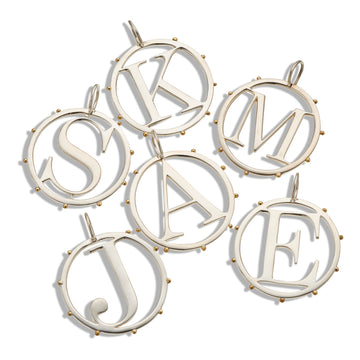 Palas Cut Out Initial Charms