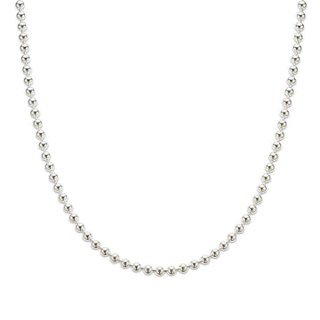Silver thick ball chain 50cm