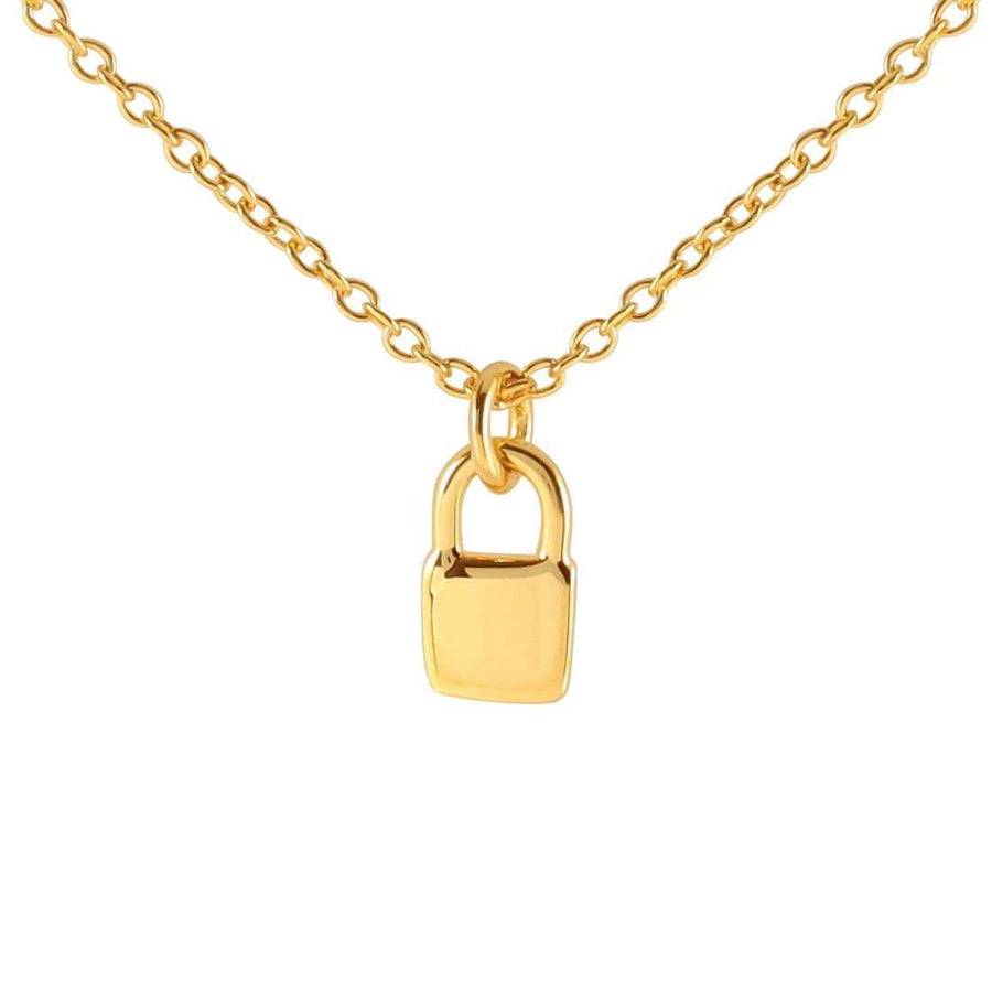 Lock Necklace - Gold