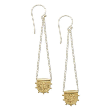 Palas Lotus Drop Earrings