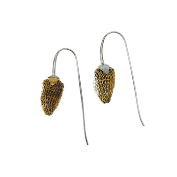 Milena Zu Mini Strawberry Pod Earrings - Gold and Silver