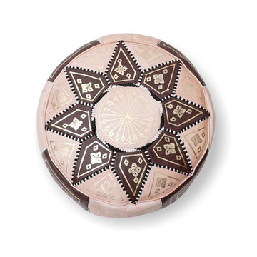 Moroccan Star Ottoman - Brown and Cream