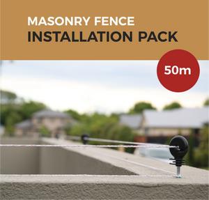 Cat Proof Fence Installation Pack - Masonry Fences 50m | SmartCatsStayHome