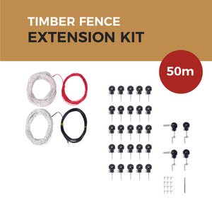 Cat Proof Fence 50m Extension Kit - Timber Fences | SmartCatsStayHome