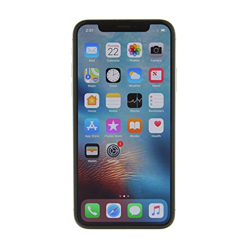Apple iPhone X, Fully Unlocked, 256GB - Silver (Refurbished)