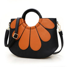 New Arrival Sun Flower Printed Women Handbags Fashion Shell Bags For Girls 2016 PU Leather Female Shoulder Bags Crossbody