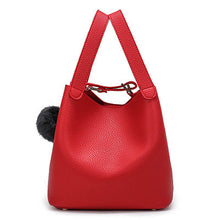 Top-Handle Women Bags Fashion Pu Women's Leather Handbags Black Women Bag Tassel Fur Bag Ball High Quality Small Bucket Bags Sac
