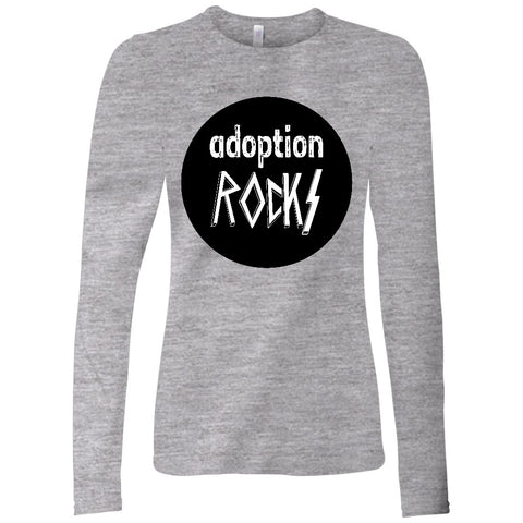 long sleeve adoption rocks shirt