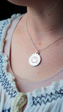 Adoption Triad Circle Pendant Necklace