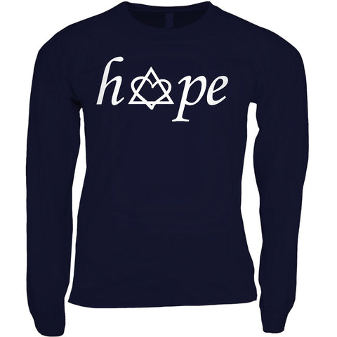 navy long sleeve adoption hope shirt