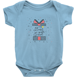 blue best gift ever adoption onesie