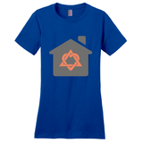 Gray House, Orange Adoption Symbol Women's T-Shirt | Adoption Gifts, Clothing & Apparel