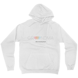 Grandma #iloveadoption Hoodie | Adoption Gifts, Clothing & Apparel