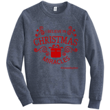 I Believe in Christmas Miracles Sweatshirt | Adoption Gifts, Clothing & Apparel