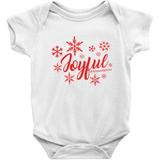 white joyful holiday onesie