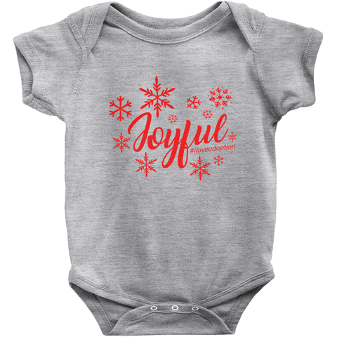 grey joyful adoption themed onesie