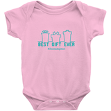 pink best gift ever holiday adoption onesie