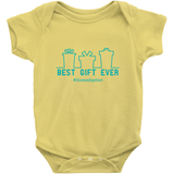 yellow best gift ever holiday adoption onesie