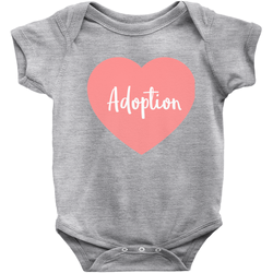 Pink Adoption Heart Infant Onesie | Adoption Gifts, Clothing & Apparel