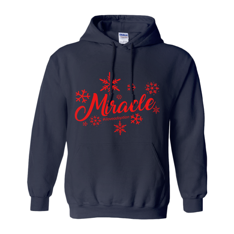 Christmas Miracle Men's Pullover Hoodie | Adoption Gifts, Clothing & Apparel