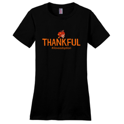 Thankful (Thanksgiving) Women's T-Shirt | Adoption Gifts, Clothing & Apparel