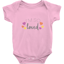 Pink I am so loved adoption onesie