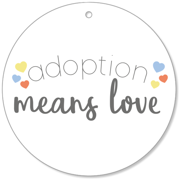 Adoption Means Love Ornament | Adoption Gifts Christmas
