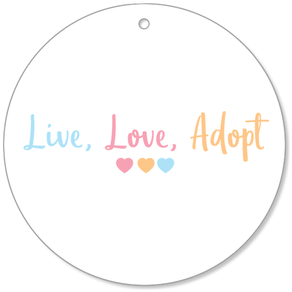 Live, Love, Adopt Ornament | Adoption Gifts Decor