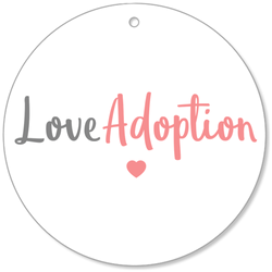 Love Adoption (Pink) Christmas Ornament | Adoption Gifts