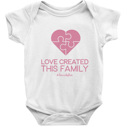 love created this family adoption puzzle onesie
