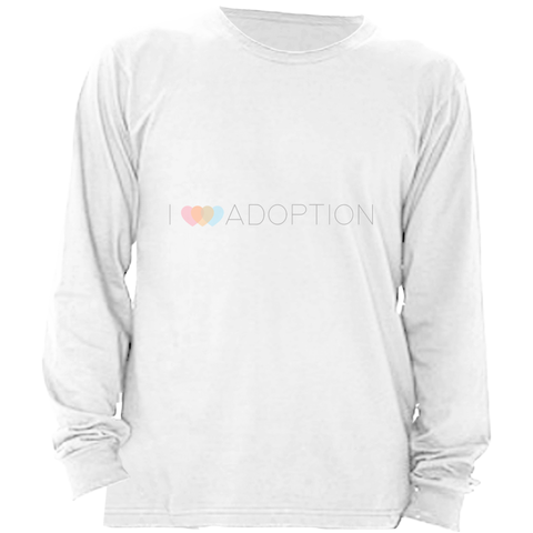 I 3 HEART ADOPTION LONG SLEEVE SHIRT | ADOPTION GIFTS, CLOTHING & APPAREL