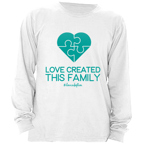 PUZZLE HEART LONG SLEEVE SHIRT | ADOPTION GIFTS, CLOTHING & APPAREL