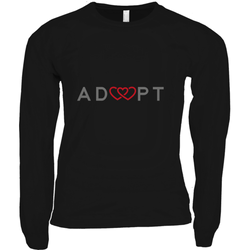 black triple heart long sleeve adoption shirt