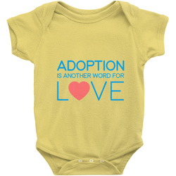 Adoption Is Another Word for Love (Blue/Red) Infant Clothing | Adoption Gifts, Clothing & Apparel