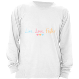 white live love foster long sleeve adoption shirt