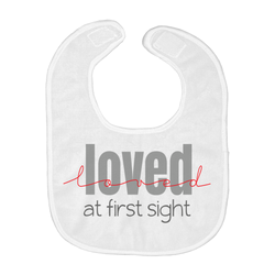 Loved at First Sight Baby Bib | Adoption Gifts, Baby Clothing and Apparel