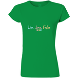 green live love foster adoption tee shirt