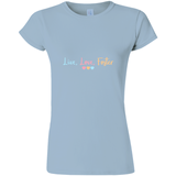 light blue live love foster adoption tee shirt