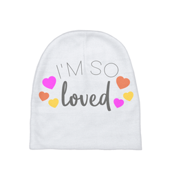 I'm so Loved Baby Beanie | Adoption Gifts, Baby Clothing and Apparel